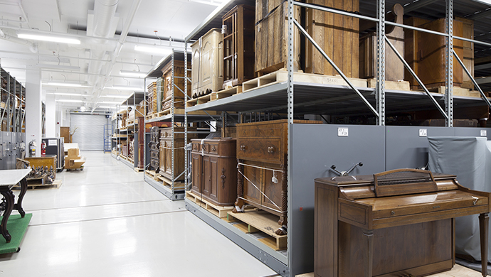 Storage room for large wooden objects