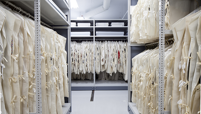 Storage room for textiles