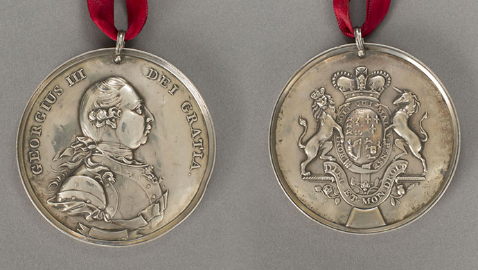George III Indian Peace Medal