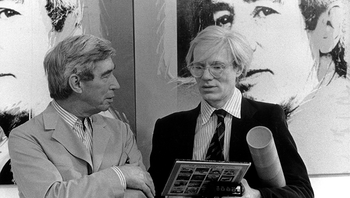 Hergé and Andy Warhol meet