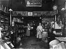 Interior of the Cantin & Frère grocery store, circa 1915