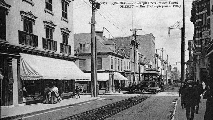 Rue St-Joseph (downtown), between 1908 and 1912